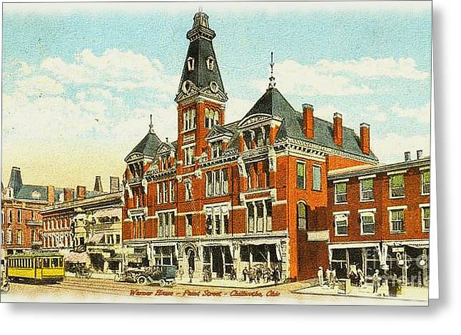 Ohio History Greeting Cards - Warner House - Chillicothe Ohio Greeting Card by Charles Robinson