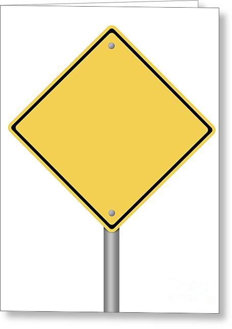 Traffic Control Digital Art Greeting Cards - Warning Sign Greeting Card by Henrik Lehnerer