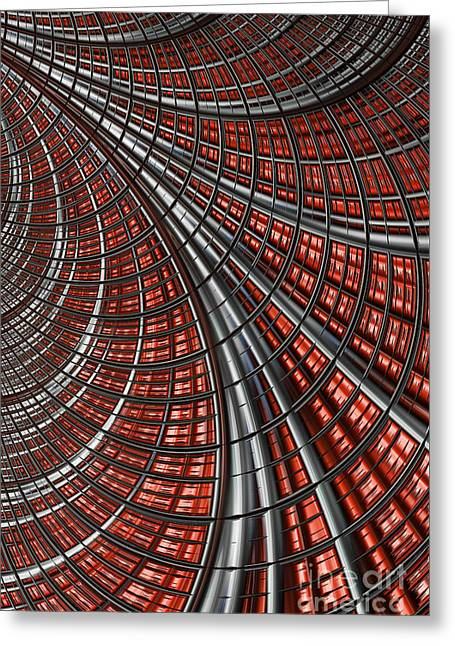Abstract Shapes Greeting Cards - Warp Core Greeting Card by John Edwards