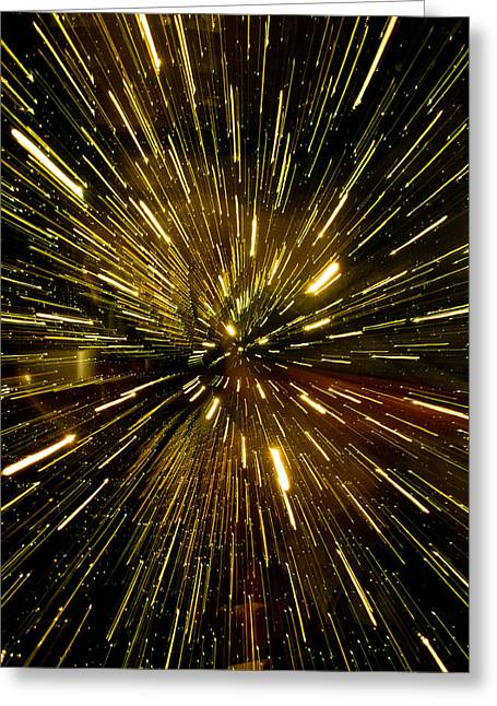 Warp Speed Greeting Cards - Warp Speed Greeting Card by Hakon Soreide