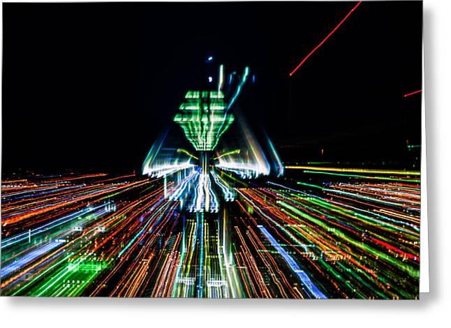 Enterprise Digital Art Greeting Cards - Warp Speed Greeting Card by Michel Emery