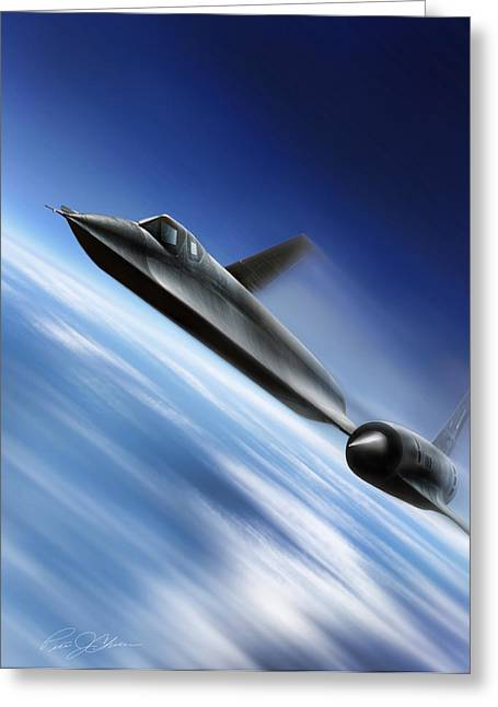 Kelly Greeting Cards - Warp Speed Greeting Card by Peter Chilelli