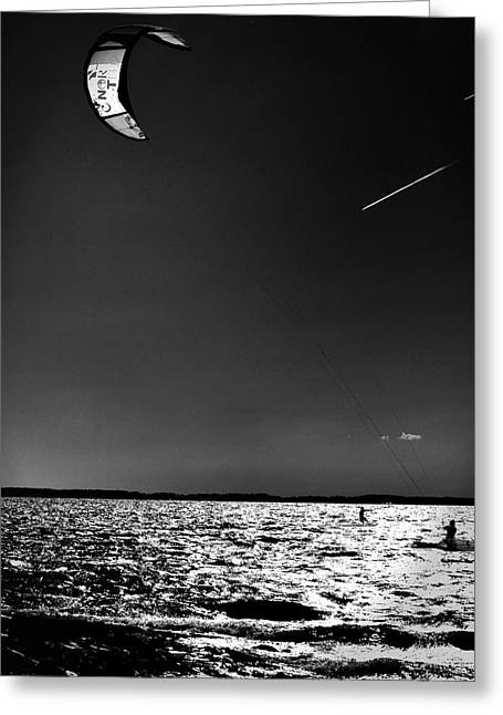 Kite Boarding Greeting Cards - Warp Speed Greeting Card by Robert McCubbin