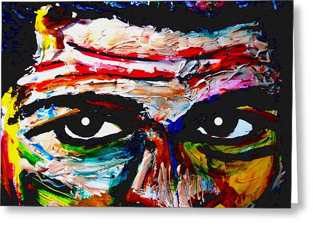 Mohammed Ali Greeting Cards - Warpaint Greeting Card by David Rogers