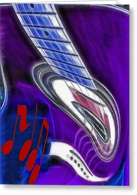 Distortion Mixed Media Greeting Cards - Warped Music 2 Greeting Card by Steve Ohlsen