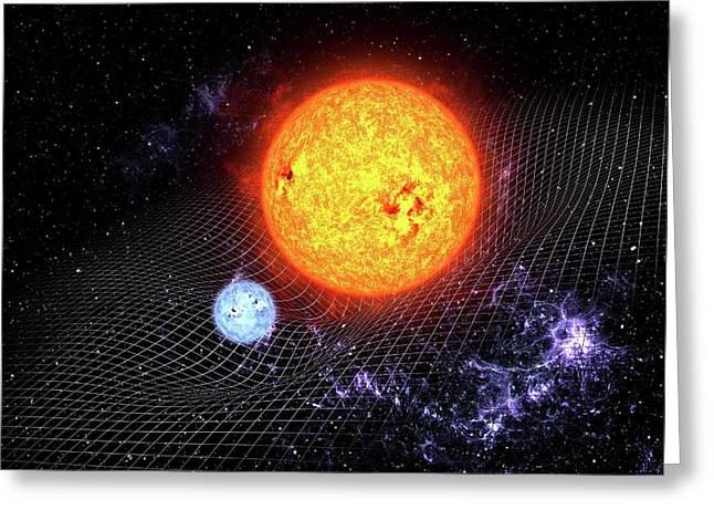 Warped Space Time Greeting Card by Take 27 Ltd