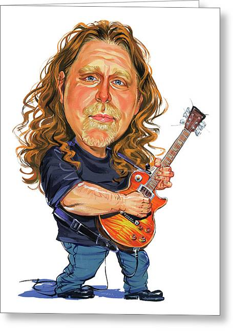 Person Greeting Cards - Warren Haynes Greeting Card by Art