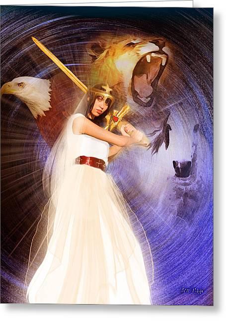 Jennifer Page Greeting Cards - Warrior Bride Greeting Card by Jennifer Page