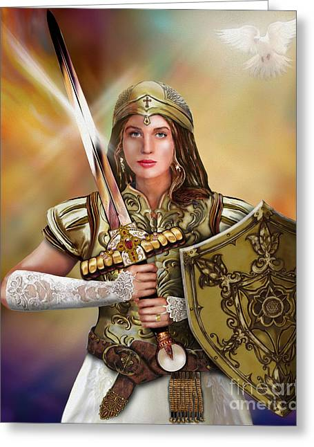 Warrior Bride Greeting Cards - Warrior Bride Of Chist Greeting Card by Todd L Thomas