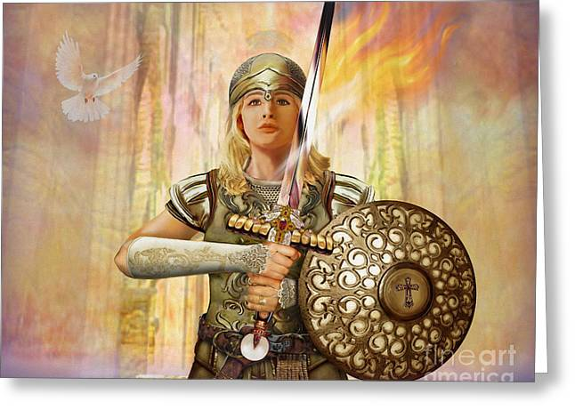 Warrior Bride Greeting Cards - Warrior Bride - The Anointed Greeting Card by Todd L Thomas