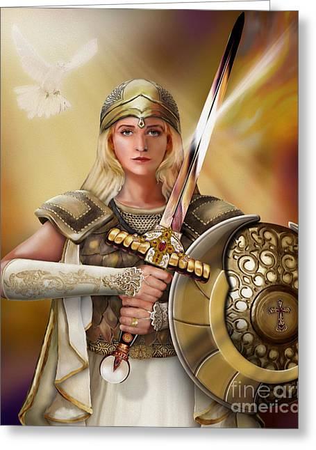 Warrior Bride Greeting Cards - Warrior Bride Greeting Card by Todd L Thomas