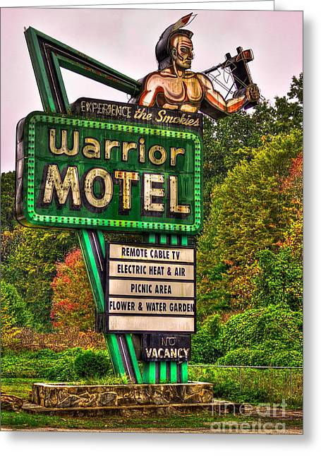 Great Warrior Greeting Cards - Warrior Motel Great Smokey Mountains Greeting Card by Reid Callaway