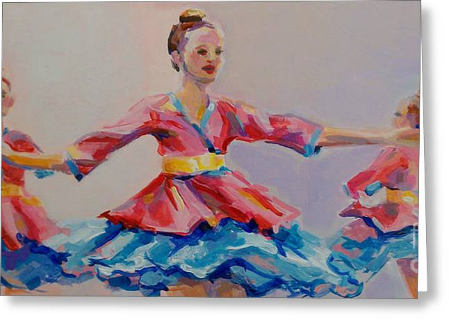 Ballet Dancers Paintings Greeting Cards - Warrior Princess Greeting Card by Kimberly Santini