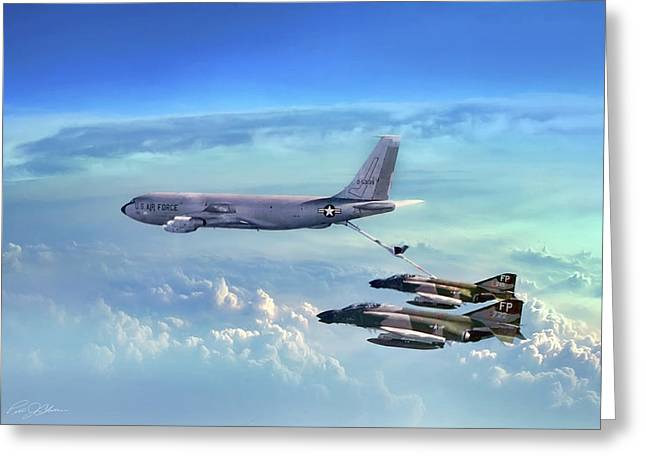 Boeing Greeting Cards - Warrior Teamwork Greeting Card by Peter Chilelli