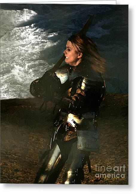 British Portraits Greeting Cards - Warrior Woman Greeting Card by RC deWinter