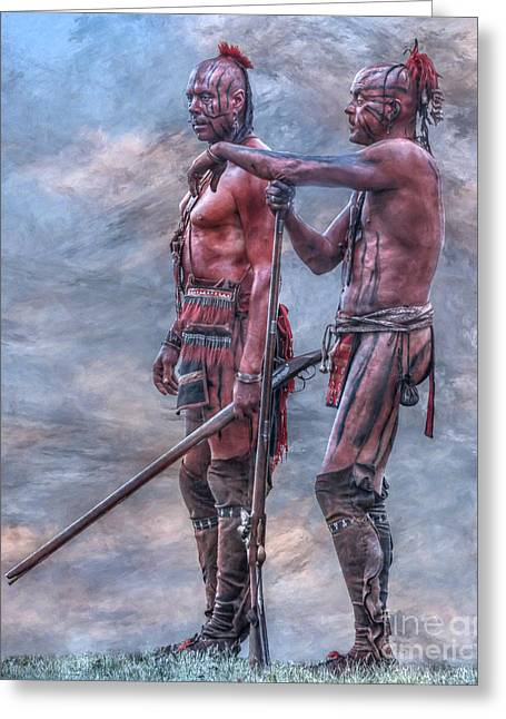 Indian Warriors Greeting Cards - Warriors Greeting Card by Randy Steele
