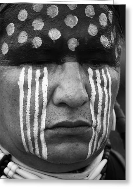 Cree Greeting Cards - Warriors Stare Greeting Card by Jerry Cordeiro