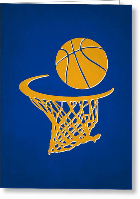 Basketball Greeting Cards - Warriors Team Hoop2 Greeting Card by Joe Hamilton