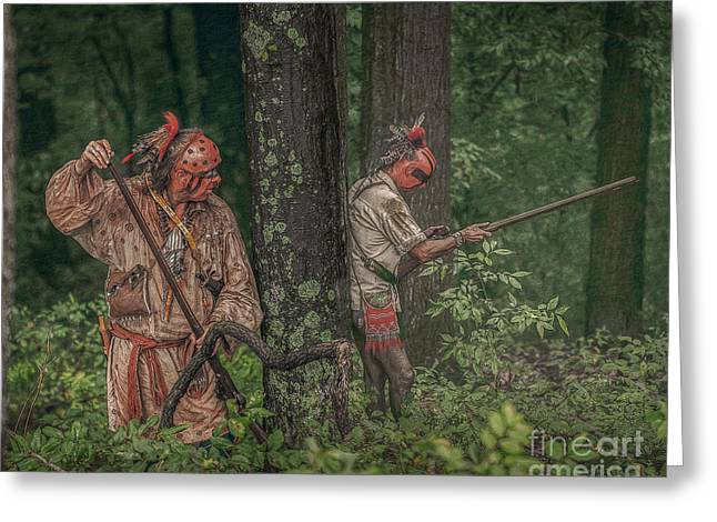 Under Fire Greeting Cards - Warriors Under Fire Greeting Card by Randy Steele