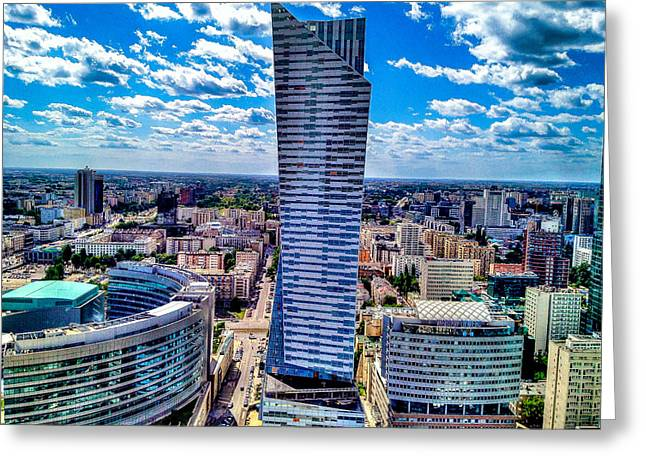 Historic Architecture Greeting Cards - Warsaw Poland Greeting Card by Daniel Hofman