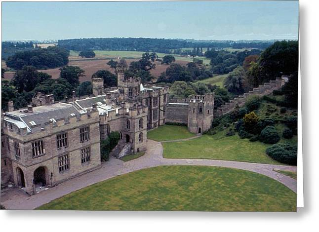 Warwick Digital Greeting Cards - Warwick Castle From Guys Tower Greeting Card by Lin Grosvenor