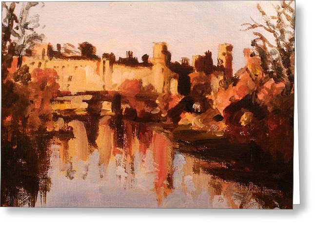 Warwick Paintings Greeting Cards - Warwick Castle Greeting Card by Paul Mitchell