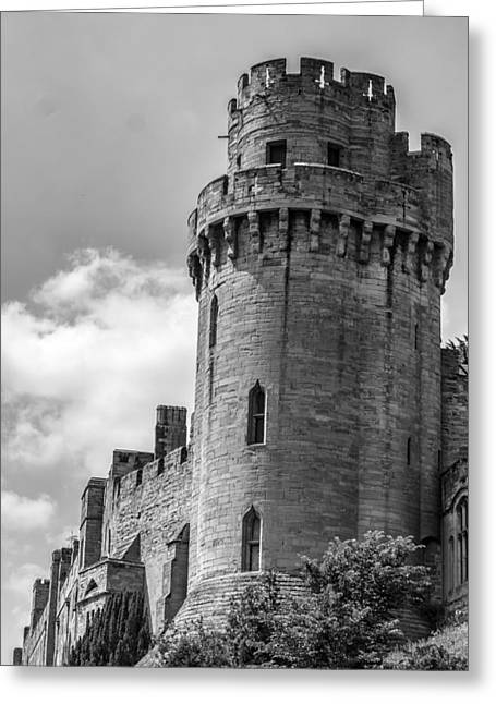 Historic England Greeting Cards - Warwick Castle Turret Greeting Card by Nomad Art And  Design