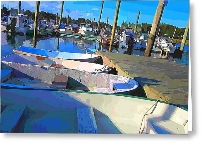 Yacht Basin Greeting Cards - Warwick Marina Greeting Card by Lourry Legarde