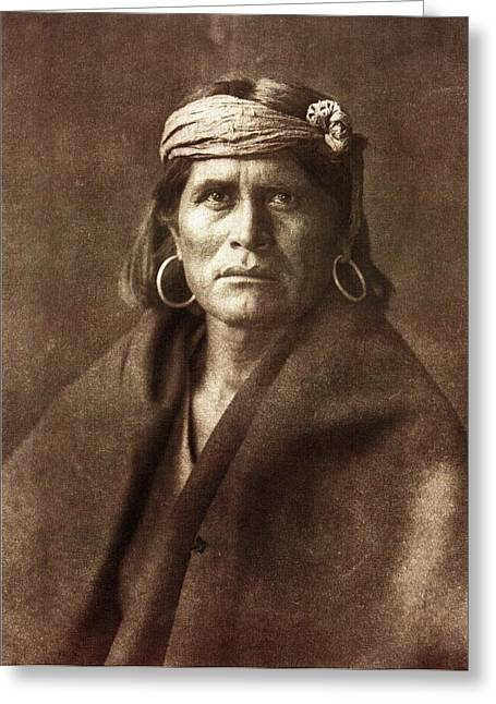 Indian Princess Greeting Cards - Warze Greeting Card by Edward Curtis
