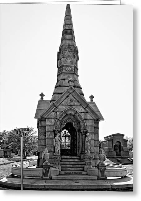 Metairie Cemetery Greeting Cards - WAS on Avenues AM  Greeting Card by Steve Harrington
