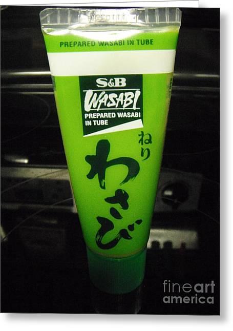 Wasabi Greeting Cards - Wasabi Green Greeting Card by GJ Waller