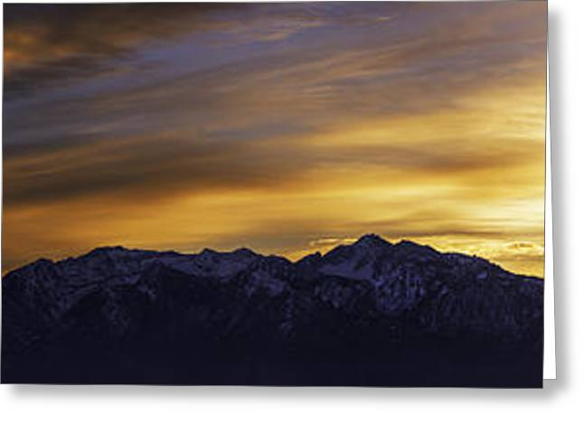 American West Greeting Cards - Wasatch Dawn Greeting Card by Chad Dutson