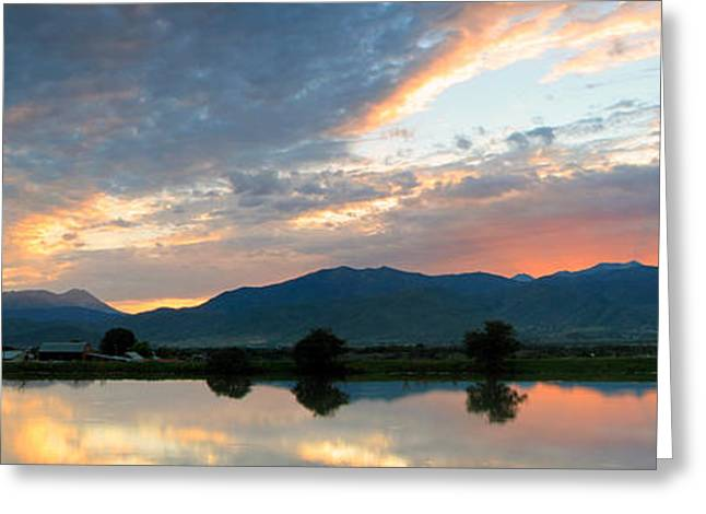 Amazing Sunset Greeting Cards - Wasatch Skyline Greeting Card by Johnny Adolphson