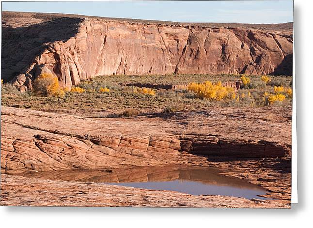 Geobob Greeting Cards - Wash and Sandstone Cliffs Four Corners Arizona Greeting Card by Robert Ford