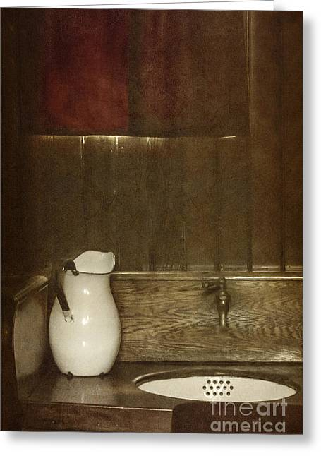 Faucet Greeting Cards - Wash Basin Greeting Card by Margie Hurwich