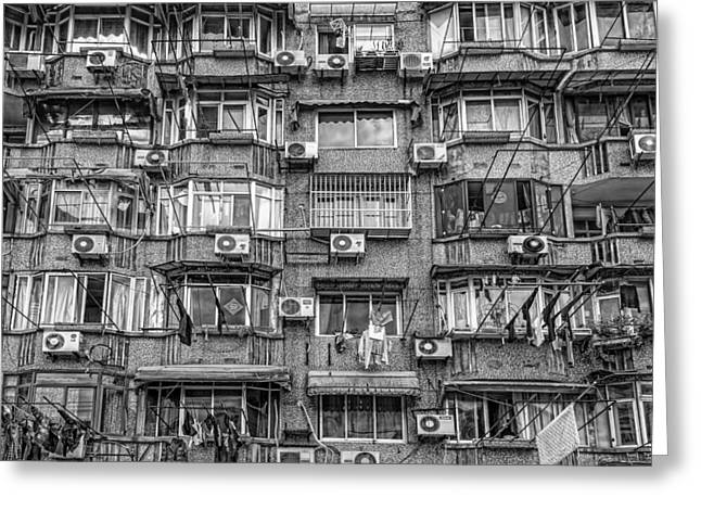 Worlds Population Greeting Cards - WASH DAY in CHINA Greeting Card by Daniel Hagerman
