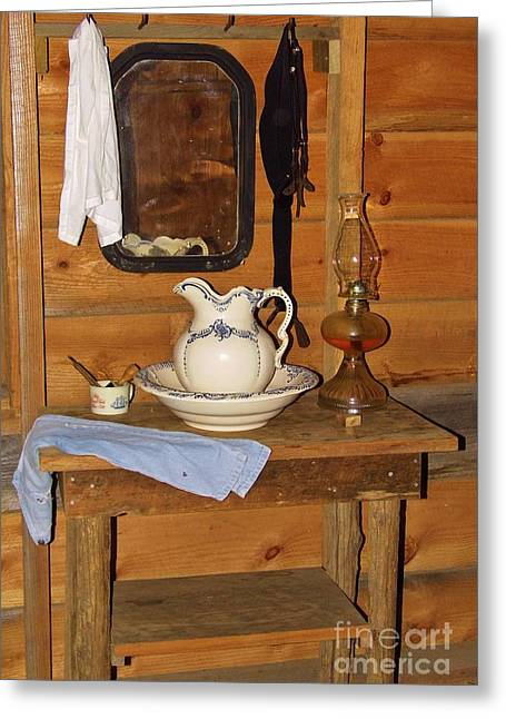 Old Pitcher Greeting Cards - Wash Stand  Greeting Card by D Hackett