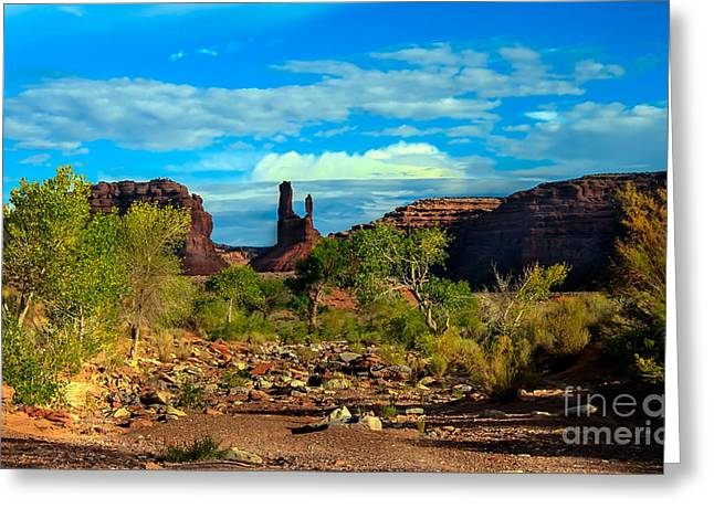 Rudolph Greeting Cards - Wash Valley of The Gods Greeting Card by Robert Bales