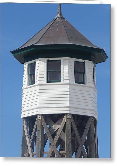 Nc Estate Greeting Cards - Wash Woods Coast Guard Tower Greeting Card by Cathy Lindsey