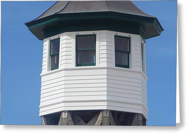 Wash Woods Coast Guard Tower Greeting Card by Cathy Lindsey
