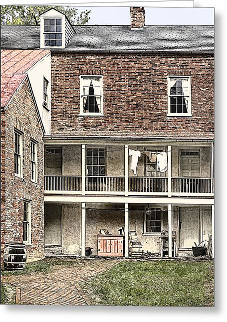 Harpers Ferry Greeting Cards - Wash Day Blues Greeting Card by Priscilla Burgers