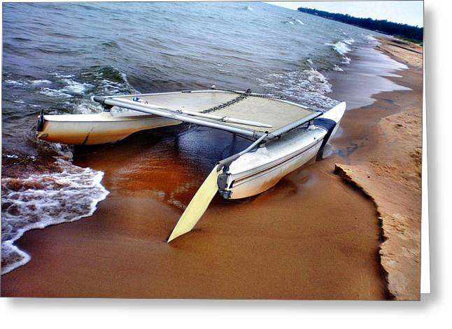 Water Vessels Greeting Cards - Washed Ashore Greeting Card by Bill Noonan