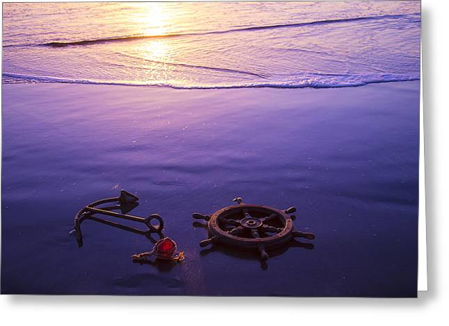 Spokes Greeting Cards - Washed Ashore Greeting Card by Garry Gay