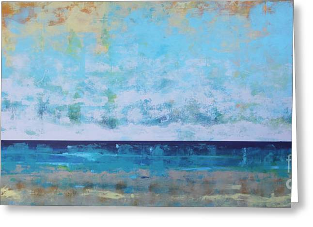 Ocean Landscape Greeting Cards - Washed Out Greeting Card by Sean Hagan