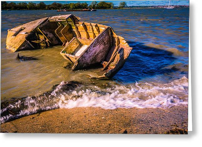 River Medway Greeting Cards - Washed Up Greeting Card by Dawn OConnor