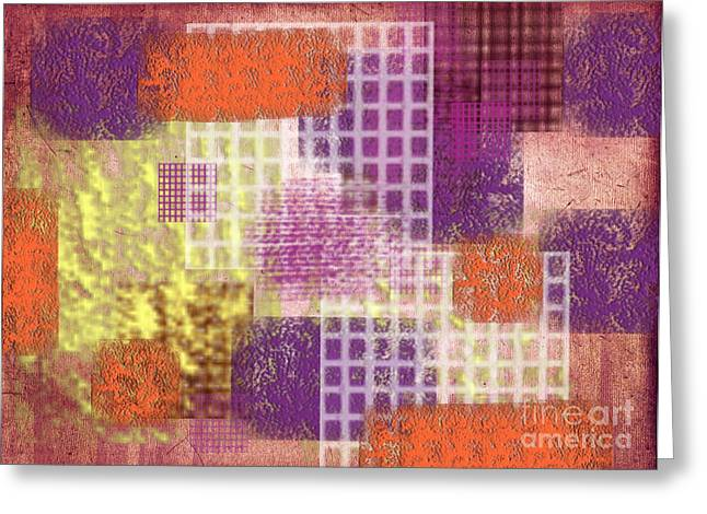 Rectangles Greeting Cards - Washi papers 1 Greeting Card by Delphimages Photo Creations