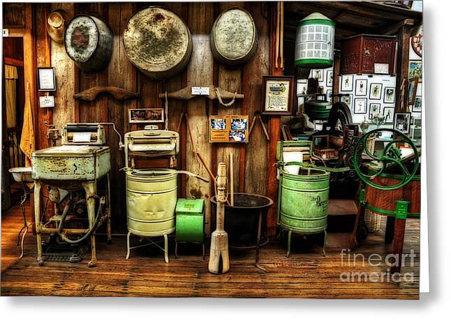 Washing Machine Greeting Cards - Washing Machines of Yesteryear Greeting Card by Kaye Menner