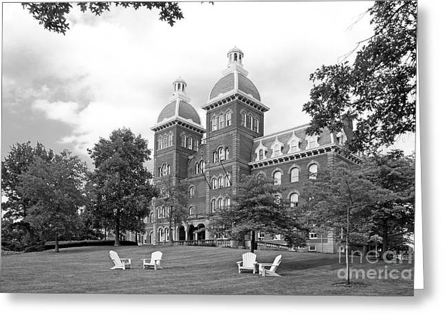 Small Towns Greeting Cards - Washington and Jefferson College Old Main Greeting Card by University Icons
