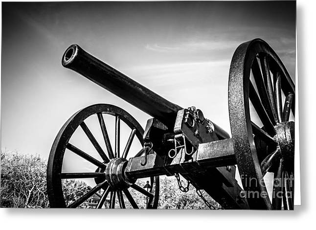 Washington Artillery Park Cannon In New Orleans Greeting Card by Paul Velgos
