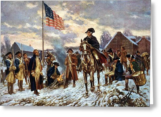 Forge Greeting Cards - Washington at Valley Forge Greeting Card by Edward Moran